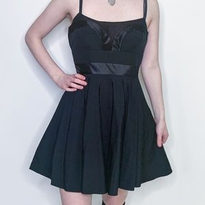 Black Dress with Detailed Top